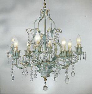 90518, Kronleuchter mit dekorativen Kristallen