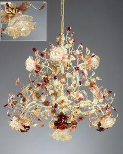 986110, Kronleuchter mit Murano-Glasdiffusoren
