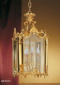 Art. MER 331, Klassische Laterne in goldenem Messing