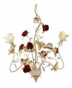 Claire LA/3, Kronleuchter mit dekorativen Rosen