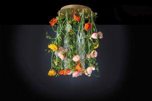 Flower Power Poppy Round, Kronleuchter mit Blumenmuster