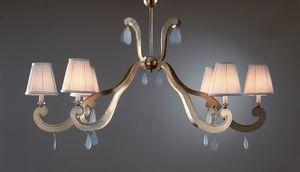 FORMELLE HL1036CH-6, Eisenkronleuchter mit Lampenschirmen