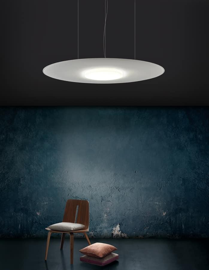 Giotto Lux, Schallabsorbierende Kronleuchter mit LED-Licht
