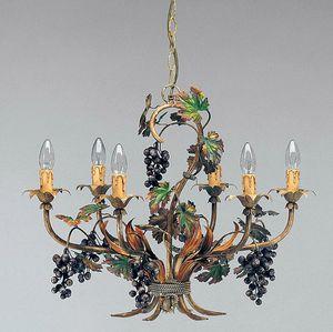 L.5190/6, Kronleuchter mit Dekorationen in Form von Weintrauben