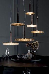 MACRABÈ Lampen, Massivholz- und geschmolzene Glaslampen