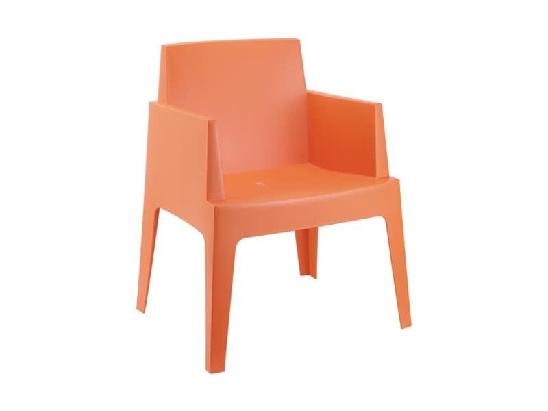 Bella, Sessel im wasserdichten Kunststoff, für den Einsatz im Freien