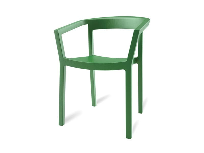 Paola, Robust stapelbarer Stuhl für Gärten und Swimmingpools