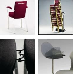 Vario-Allday 21/4A, Konferenz moderner Stuhl, stapelbar, anatomischen Sitz