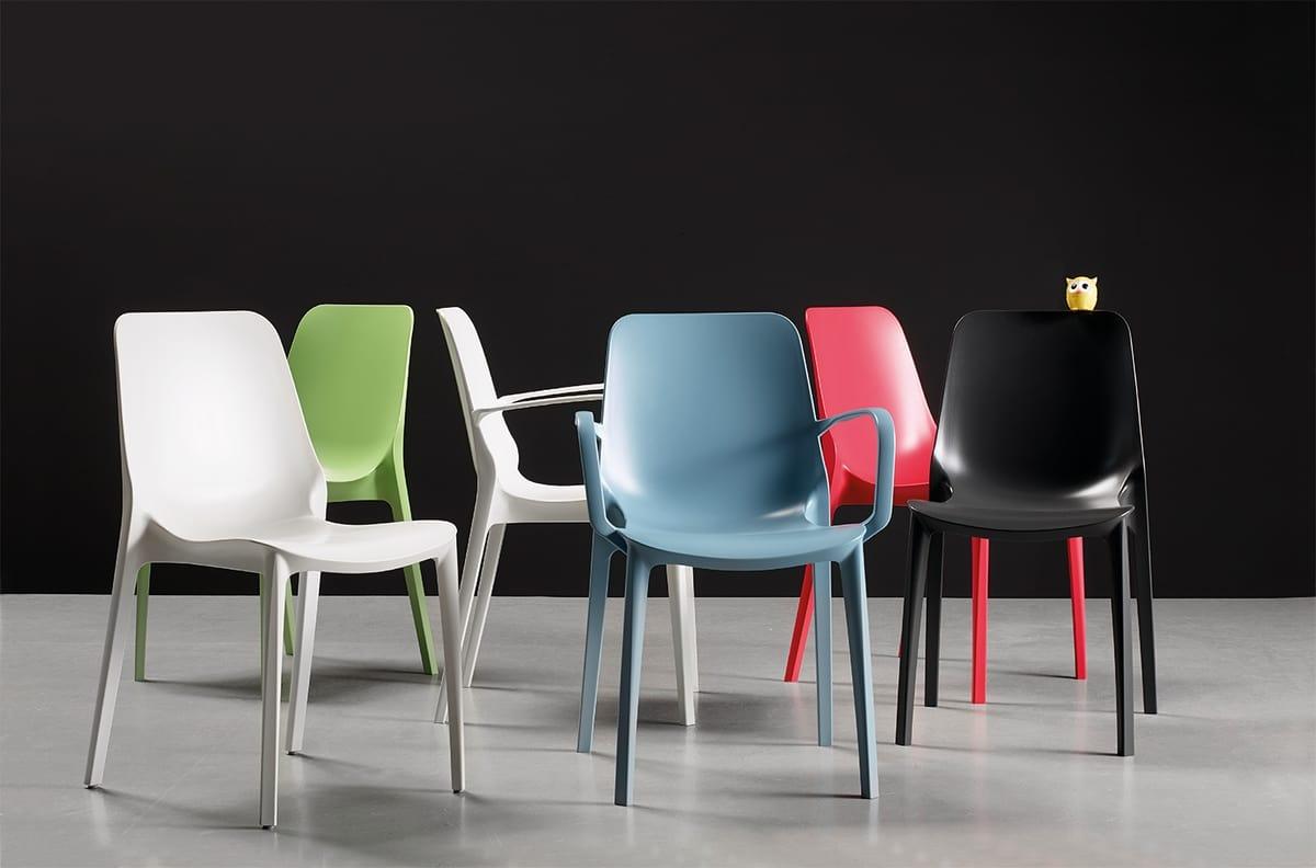 BABY P, Sessel mit Armlehnen aus Technopolymer für den Außenbereich
