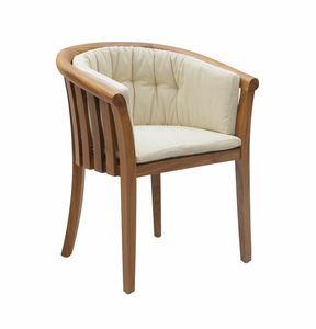 Georgetown 0349, Sehr bequemer Sessel aus Teak und Stoff