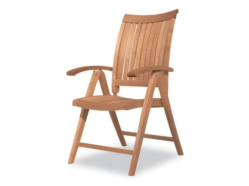 Harmony Reclining Sessel, Holz-Klappstuhl, Multipositions, den Außenbereich