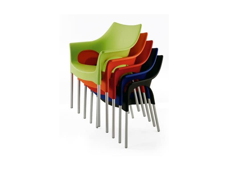 PL 2100, Wasserdicht Sessel, aus Aluminium, für Restaurant