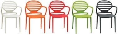 PL 2280, Polypropylen Stuhl mit Armlehnen, matt