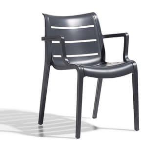 PL 2329, Sessel in Kunststoff, in verschiedenen Farben, für die äußere Anwendung