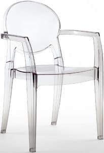 PL 2355, Transparenter wasserdichter Sessel für den Außenbereich