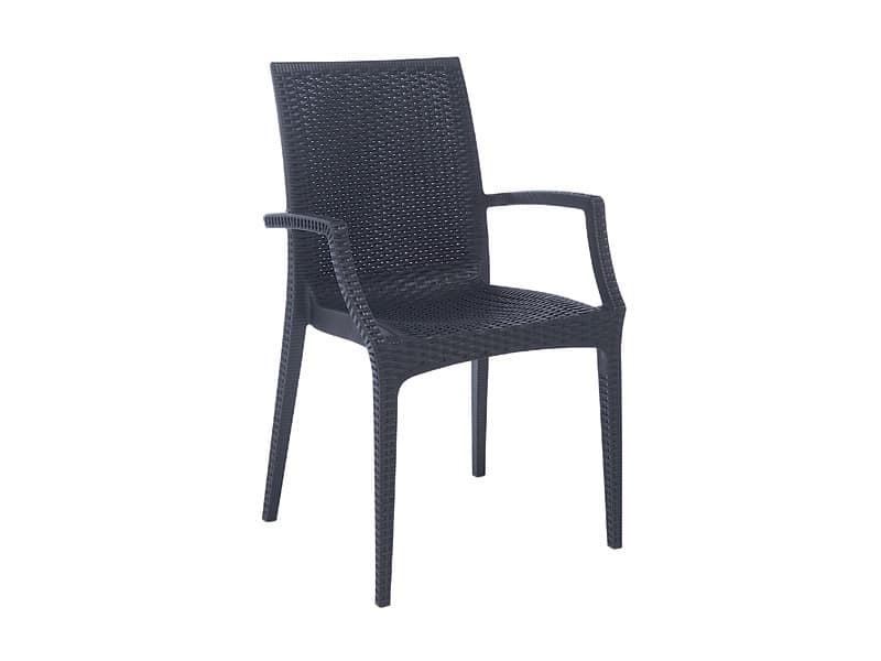 PL 6625, Moderner Stuhl, gedruckt verschachtelt, für Gärten