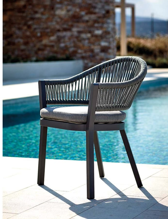 POLTRONCINA MESSICO, Geflochtener Sessel für den Außenbereich