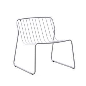 Randa nude LO, Stapelbarer Liegestuhl aus Stahl