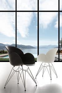 Art. 292 Lotus Metal, Polypropylen und Metall Sessel, robust und langlebig