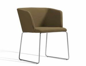 Concord 521CV, Kleiner Sessel mit Metallkufengestell