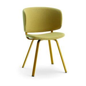 Lola PT, Stuhl mit gepolstertem Sitz und Rücken
