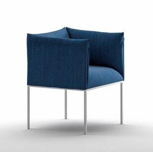 Sharp AR, Weicher Sessel für den Vertragsgebrauch aus lackiertem Stahl