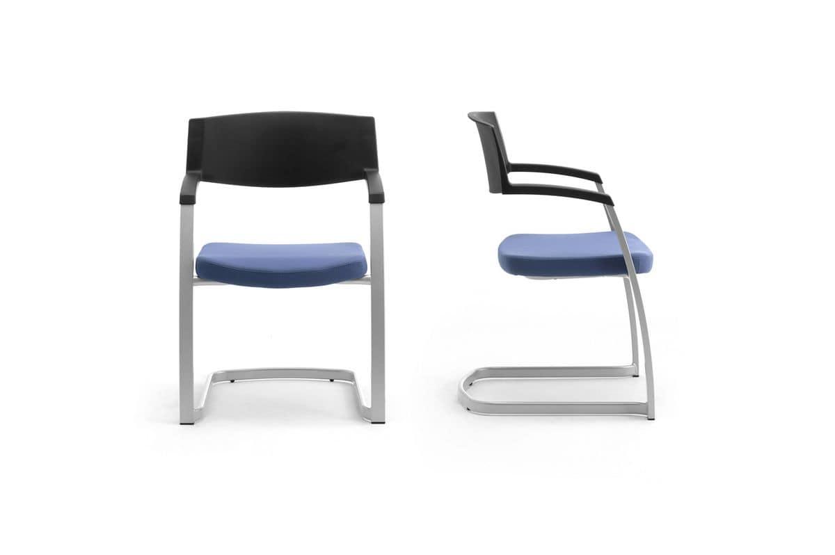 Time 0590, Stuhl mit Kufen für Büros und Besprechungsräume