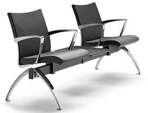 AVIA 4400B2T + OPT, Sitzbank mit zwei Sitzen und 1 Tisch ideal für Wartezimmer