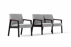 CUDDLE 6622x3+table, Wartestühle mit Tisch