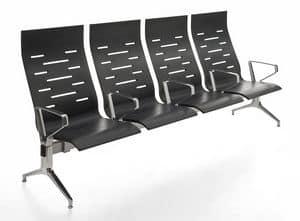 Keyport, Stuhl auf dem Balken, aus Stahl und Polyurethan, f�r Wartezimmer