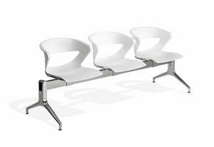 Kicca bench, Sitzbank-System für Wartebereiche