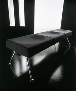 Ypsilon bench, Bench für Wartezimmer, in Metall und feuerhemmenden Polyurethan