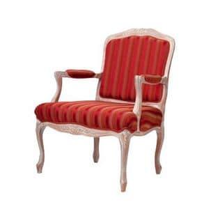 1060, Sessel mit gepolsterten Armlehnen, für Luxus-Hotels