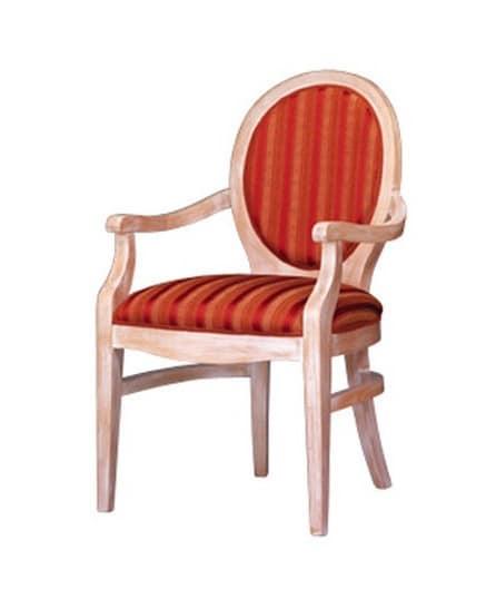 1080, Klassischer Sessel aus Buchenholz mit ovalen zurück