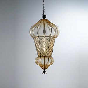 Babà Es105-090, Außenlampe aus mundgeblasenem Glas
