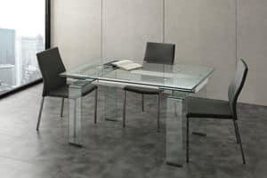 Art. 676/2 Miniglass, Ausziehtisch, f�r Treffen und Wohnzimmer