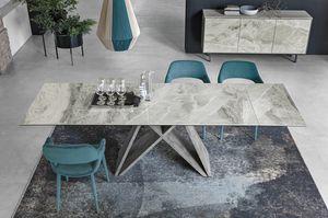 DELTA 180 TA519, Tisch mit Steinzeugplatte aus Porzellan