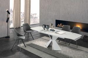POSEIDONE 160 TA1A0, Esstisch mit einem eleganten Design