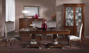 3625 TISCH, Luxuriöser Tisch, handgeschnitzt, klassischer Stil