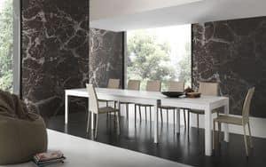 Art. 620 Ermes, Ausziehbarer Tisch mit mehreren Erweiterungen gemacht