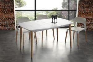 Art. 622 Olaf, Ausziehbarer Tisch aus massivem Holz