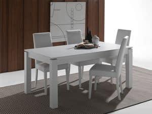 Art. 628 Rialto, Ausziehbarer Tisch aus massivem Holz lackiert