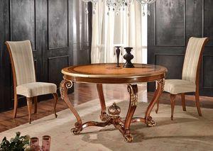 Art. 901, Runder ausziehbarer Holztisch