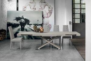 ASTERION TA194, Ausziehbarer Tisch, Laminatstruktur, oberen und seitlichen Erweiterungen