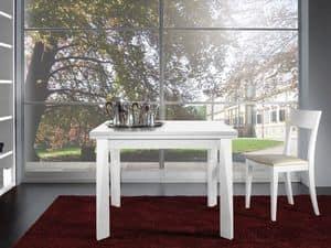 Ergänzungen Tisch 06, Ausziehbaren Tisch aus Holz, für Restaurants