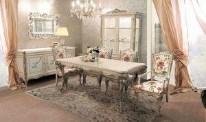 Delizia Tisch rechteckig, Ausziehbarer Holztisch
