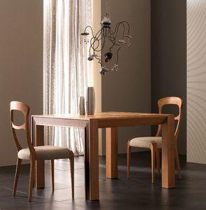 Elettra Art. EL138, Ausziehbarer Tisch aus Walnussholz