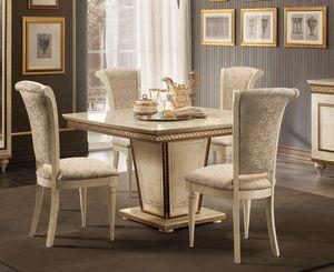 Fantasia quadratischen Tisch, Quadratischer Tisch mit Verlängerung