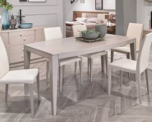 Flor, Ausziehbarer Tisch mit elliptischer Platte