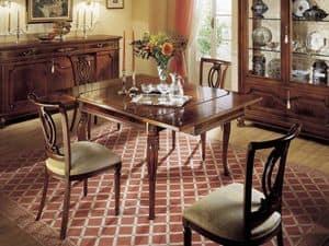 GRANDUCATO / Erweiterbar Platz der Tabelle, Erweiterbar Holztisch, klassische, rechteckige, Küchen